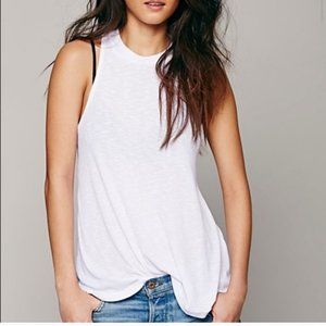 Free People Mock Me Ribbed Tank Top Size Small